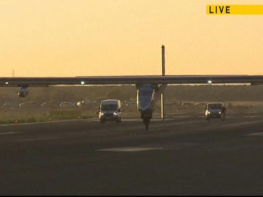 Watch:  Solar-Powered Plane Lands in Spain