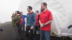 Six scientists have completed a yearlong Mars simulation in Hawaii, where they lived in a dome in near isolation.