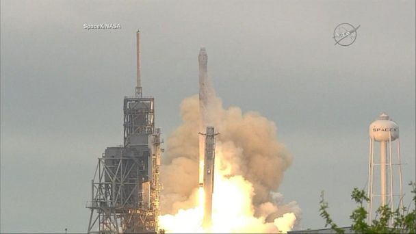VIDEO: SpaceX celebrates successful launch from historic NASA launch pad in Florida