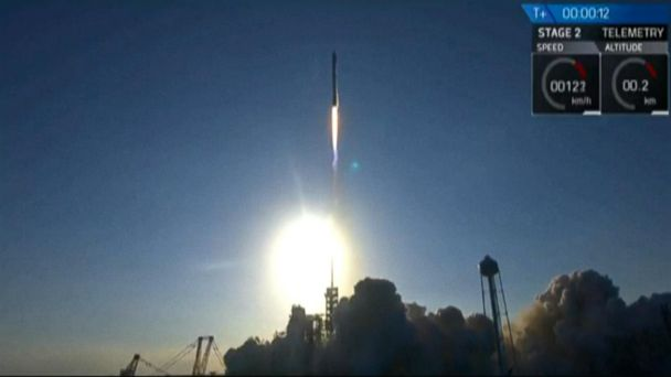 VIDEO:  Recycled rocket delivers satellite into orbit