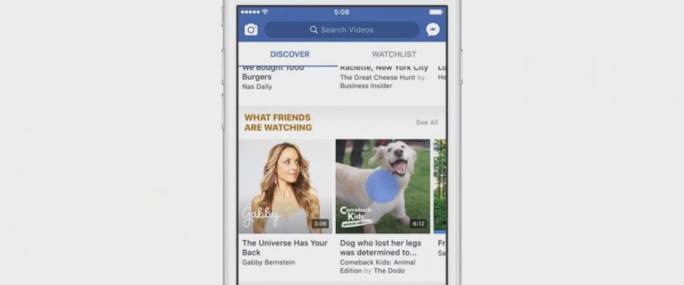 VIDEO: Facebook unveils Watch video tab