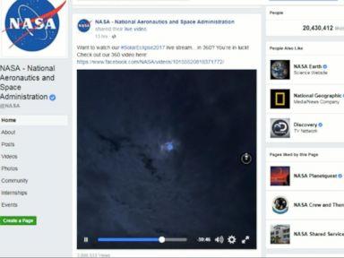 WATCH:  Solar eclipse lights up social media