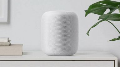 'VIDEO: Apple delays the planned release date of its high-end home pod speaker' from the web at 'http://a.abcnews.com/images/Technology/171120_atm_techbytes1_16x9_384.jpg'