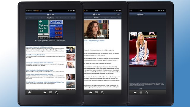 The all new abc news kindle app