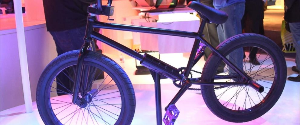 PHOTO: Intel showed off a smart BMX bike at CES.