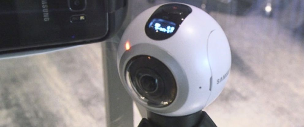 PHOTO: Samsungs new Gear360 virtual reality camera is seen in this photo