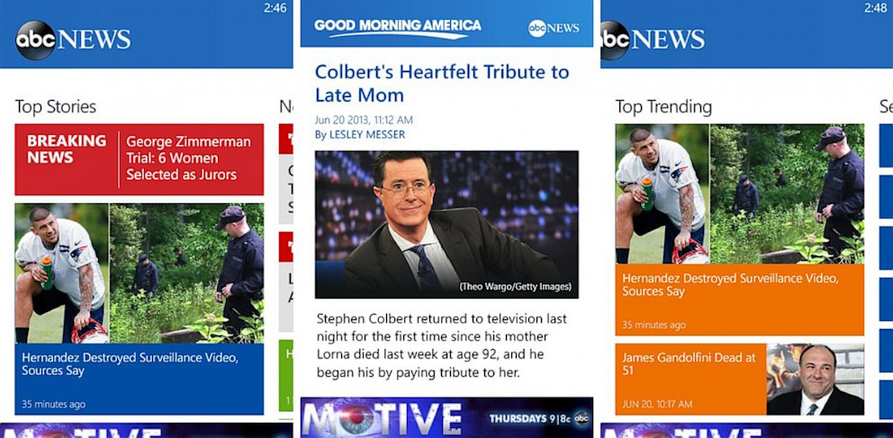 PHOTO: The ABC News app is now available in the Windows Phone store.