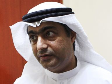 PHOTO: Human rights activist Ahmed Mansoor speaks to Associated Press journalists in Ajman, United Arab Emirates, Aug. 25, 2016.