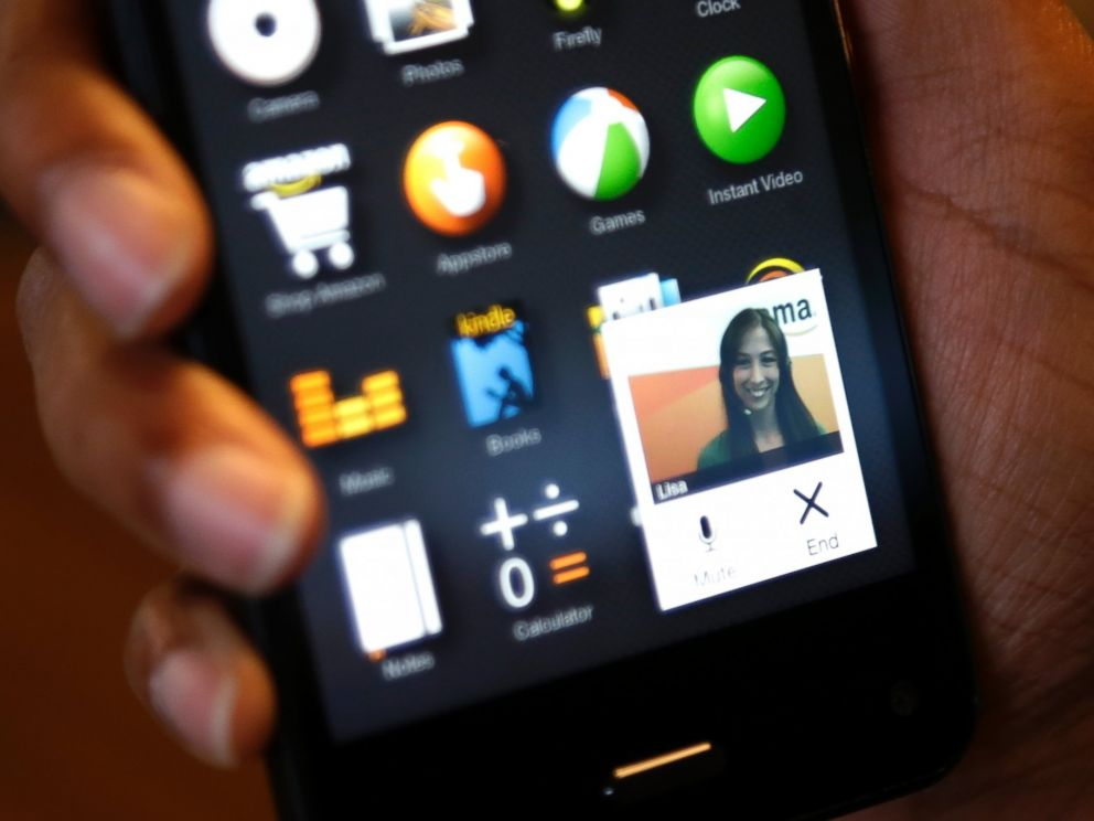 PHOTO: The Amazon Mayday customer service app, which provides a direct link to a live Amazon tech support worker, is demonstrated on the Amazon Fire Phone in Seattle on June 18, 2014.