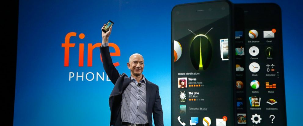 PHOTO: Amazon CEO Jeff Bezos introduces the new Amazon Fire Phone, June 18, 2014, in Seattle.