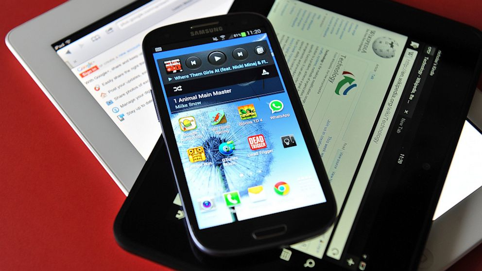 PHOTO: Samsung Galaxy S3 android phon