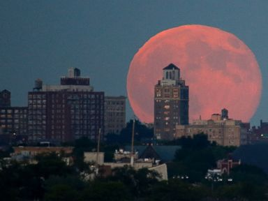 See the Best Photos of Friday's Blue Moon, From NYC to Seattle