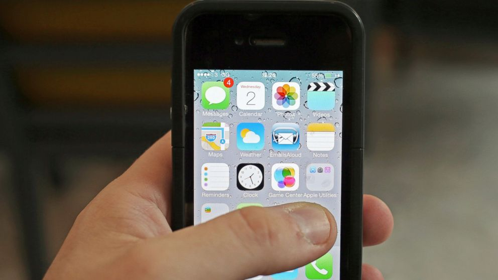 PHOTO: An iPhone is pictured in this file photo demonstrating Apples news that new software will allow users to control certain features in their home directly from their iPhone.
