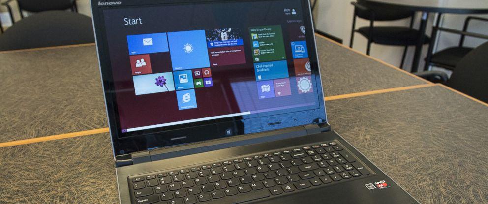 PHOTO: The Lenovo Flex 15D laptop is pictured on April 25, 2014 in Atlanta.