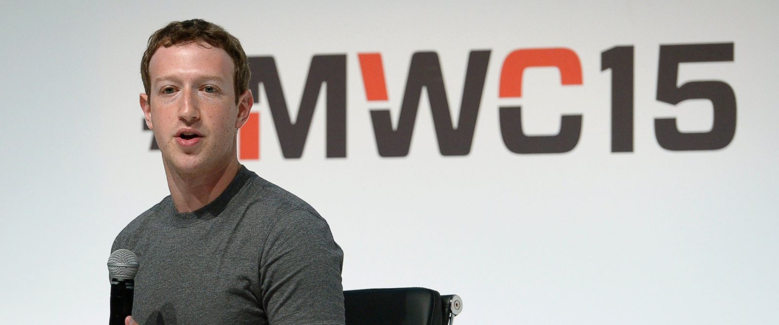 PHOTO: Facebook CEO Mark Zuckerberg speaks during a conference at the Mobile World Congress, the worlds largest mobile phone trade show in Barcelona, March 2, 2015.