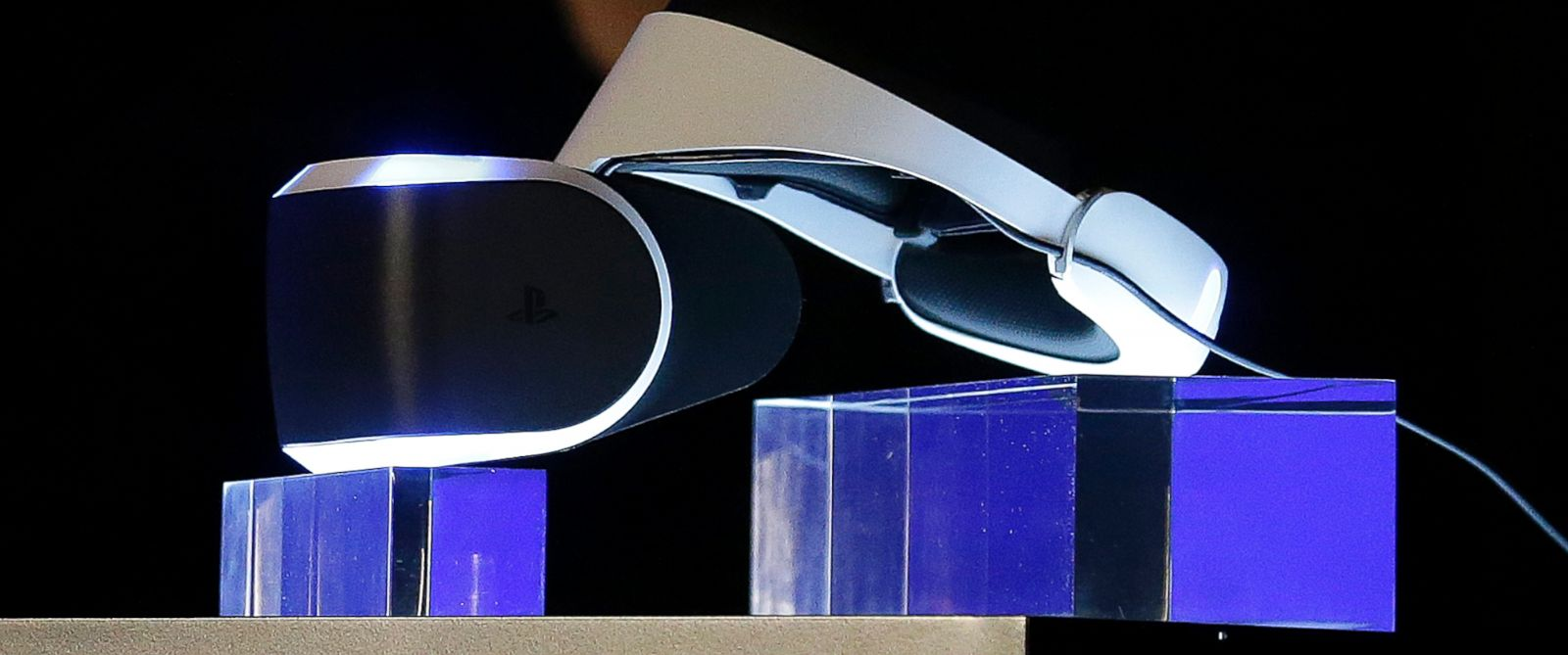PHOTO: The PlayStation 4 virtual reality headset Project Morpheus is shown at the Game Developers Conference 2014 in San Francisco, Calif. on March 18, 2014.