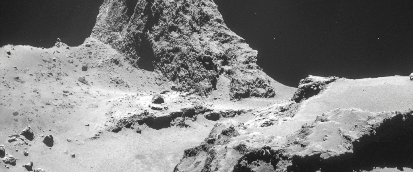PHOTO: This picture, taken by the camera on-board Rosetta, shows Comet 67P/Churyumov-Gerasimenko.