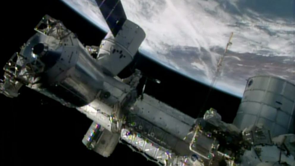 PHOTO: The International Space Station (pictured in April 2014) has been running tests on whiskey particles that are headed back to Earth on Sept. 12, 2014.