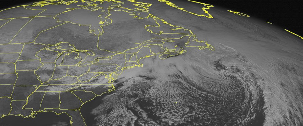 Photo Noaa Satellite Image Shows Cloud Cover Affecting The Northeast U S And Mid Atlantic Westward Weather