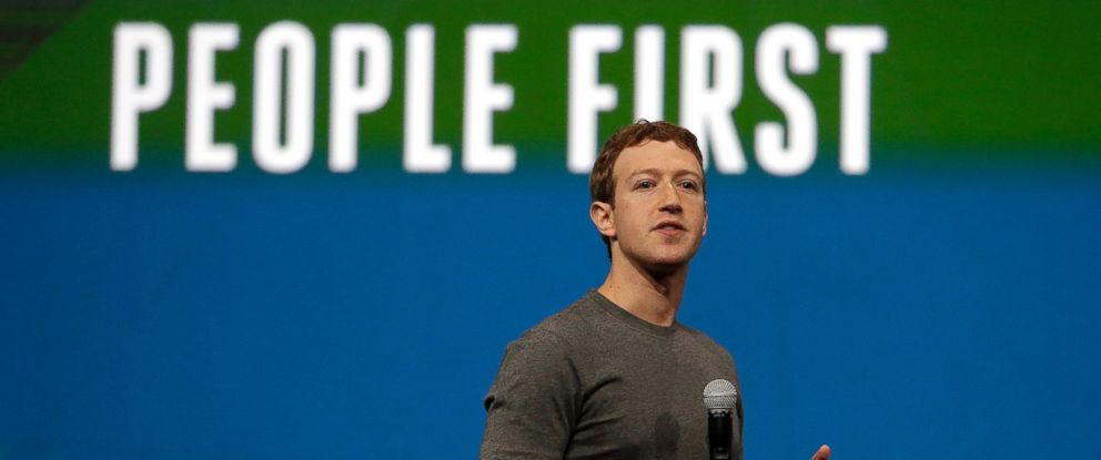PHOTO: Facebook CEO Mark Zuckerberg gestures while delivering the keynote address at the f8 Facebook Developer Conference, April 30, 2014, in San Francisco, Calif.