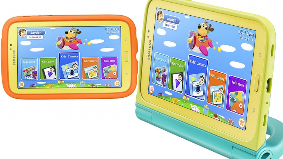 PHOTO: Samsung is putting children first with the Galaxy Tab 3 Kids tablet.