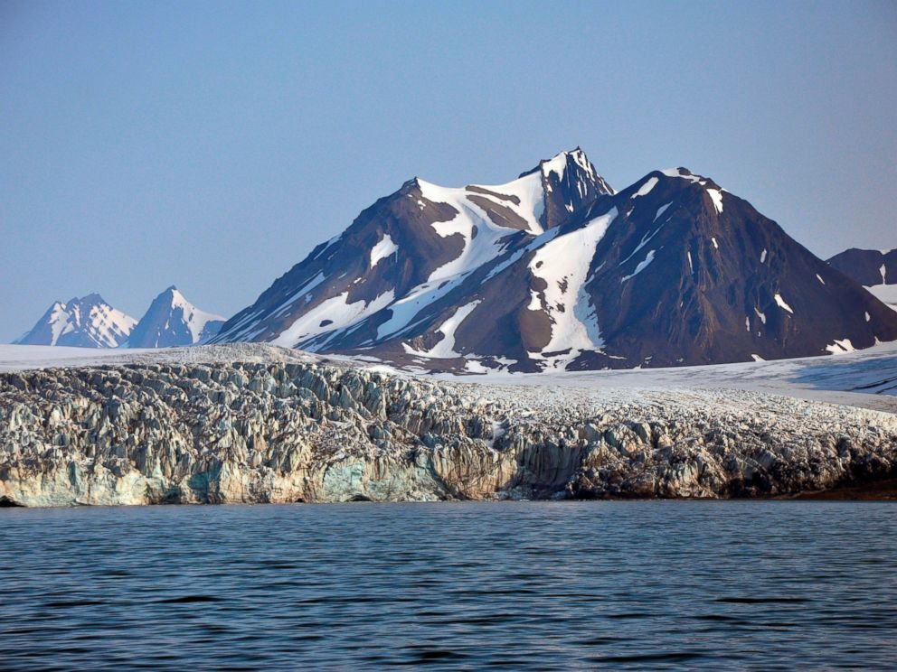 PHOTO: Billefjorden Glacier on the Svalbard Islands, Norway.