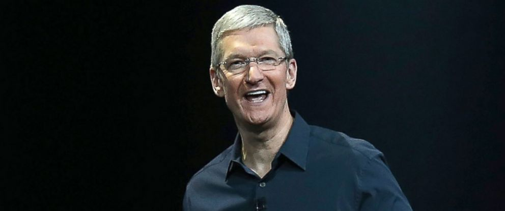 PHOTO: Apple CEO Tim Cook speaks during the Apple Worldwide Developers Conference at the Moscone West center on June 2, 2014 in San Francisco, California.