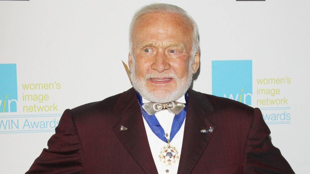 PHOTO: Buzz Aldrin arrives at the 16th Annual Womens Image Awards held at Beverly Hills Womens Club, Dec. 14, 2014, in Beverly Hills, Calif.