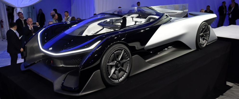 PHOTO: The Faraday Future Inc. FFZero1 concept vehicle is unveiled during the 2016 Consumer Electronics Show (CES) in Las Vegas on Jan. 4, 2016.