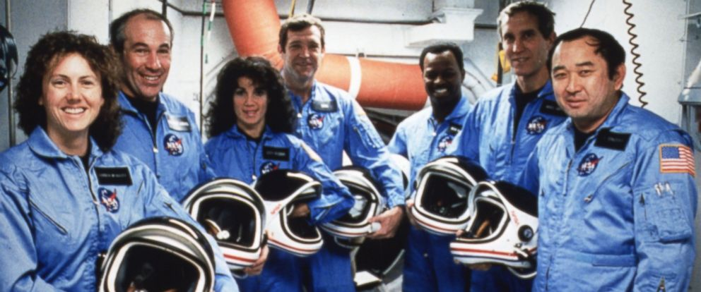 PHOTO: Jan. 28, 1986, space shuttle Challenger exploded 73 seconds after its take-off from Kennedy Space Center in Cape Canaveral, Fla. A photo of the Challengers crew.