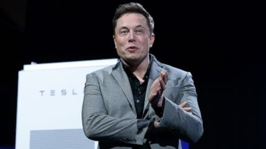 PHOTO: Elon Musk, CEO of Tesla, is seen in this April 30, 2015 file photo in Hawthorne, Calif.