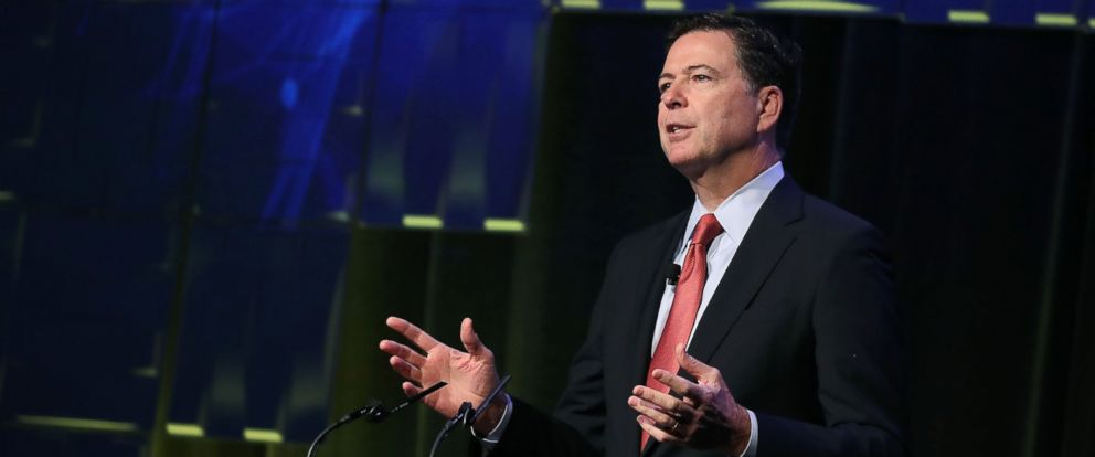 PHOTO: FBI Director James Comey speaks during a government symposium on cyber security, on Aug. 30, 2016, in Washington.