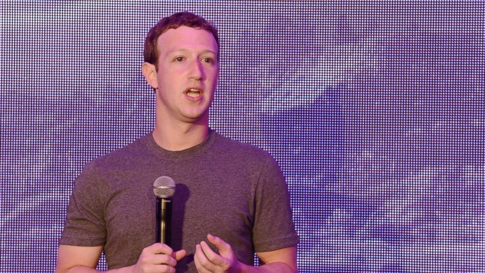 PHOTO: Facebook founder Mark Zuckerberg delivers his address to participants during the launch promoting the Internet.org app in Jakarta, Oct. 13, 2014 which allows people in underdeveloped areas to access basic online services.