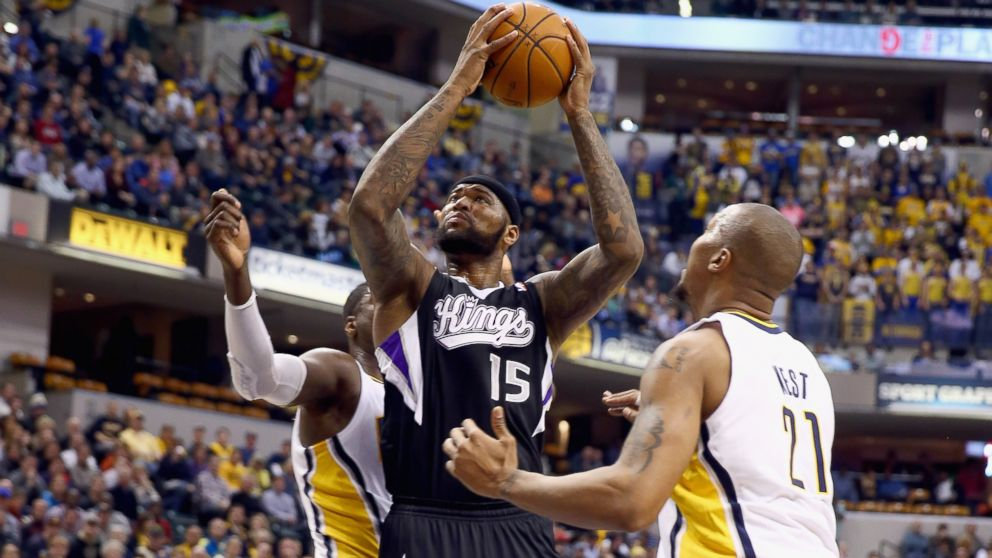 PHOTO: DeMarcus Cousins #15 of the Sacramento Kings shoots the ball during the game against the Indiana Pacers at Bankers Life Fieldhouse, Jan. 14, 2014 in Indianapolis.