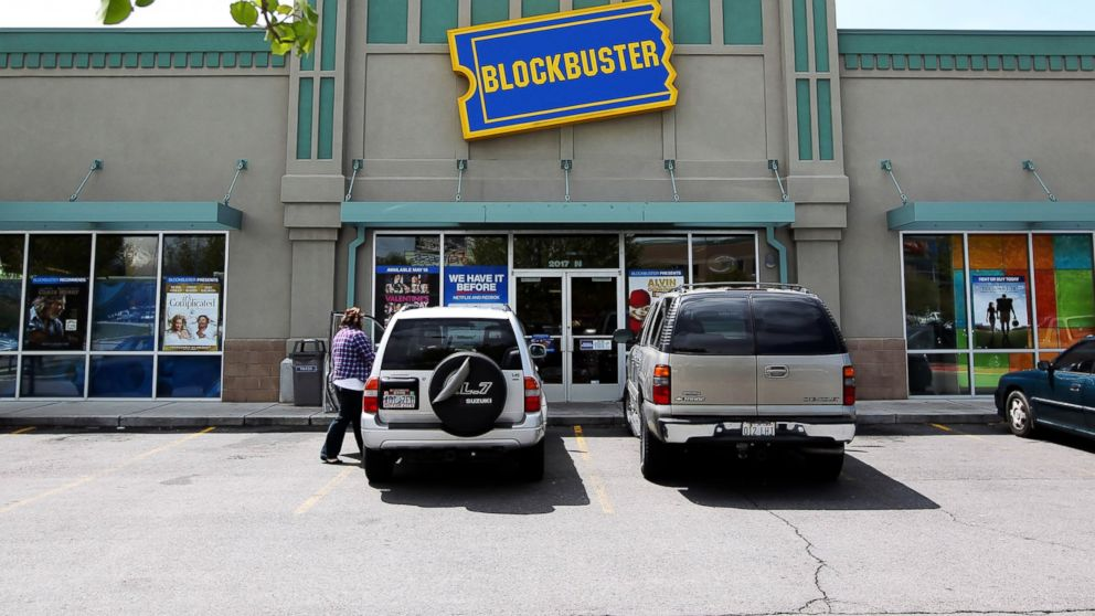 PHOTO: A customer leaves a Blockbuster store in Provo, Utah, May 12, 2010.
