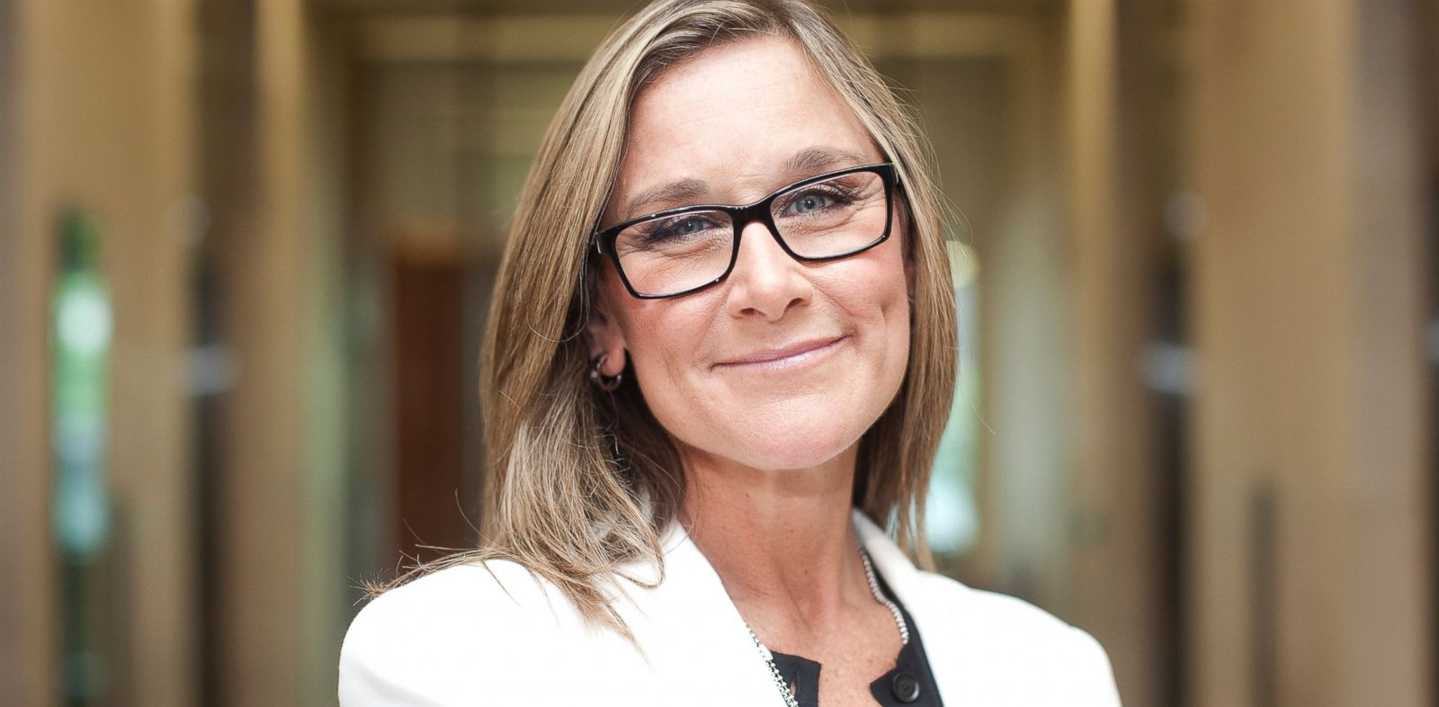 PHOTO: Angela Ahrendts, chief executive officer of Burberry Group, poses for a photograph at the London Stock Exchange Groups headquarters in London, July 19, 2012.
