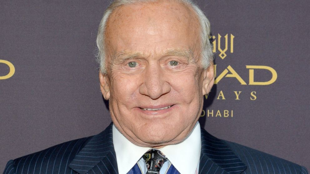 PHOTO: Buzz Aldrin attends a gala to celebrate Etihad Airways world