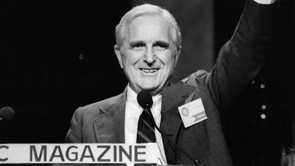 Doug Engelbart, inventor of the computer mouse, circa 1998.