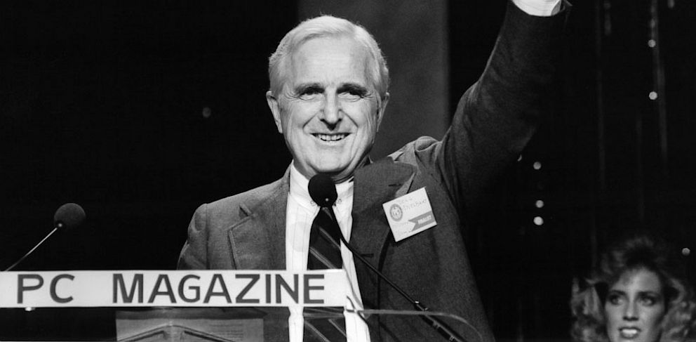 PHOTO: doug engelbart, mouse, computer, inventor