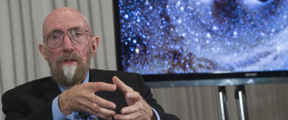 PHOTO: LIGO co-founder Kip Thorne speaks about the discovery that scientists have observed the ripples in the fabric of space-time called gravitational waves for the first time, confirming one of Albert Einsteins theories, in Washington, Feb. 11, 2016.