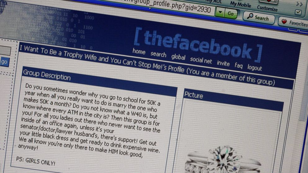 PHOTO: Facebook Message posted Dec. 22, 2004 at an online college community called thefacebook.com.