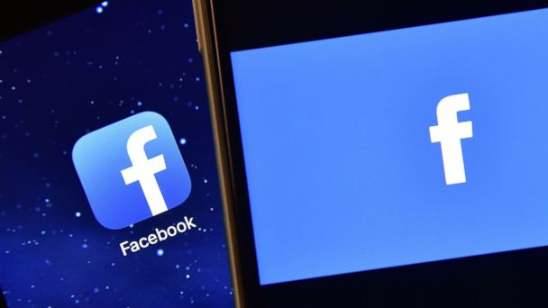 PHOTO: The Facebook app logo is displayed on an iPad next to a picture of the Facebook logo on an iPhone on Aug. 3, 2016, in London, England.