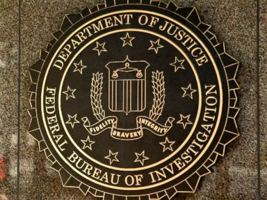PHOTO: The seal of the Federal Bureau of Investigation (FBI) is seen at the J. Edgar Hoover building in Washington, Aug. 8, 2013.