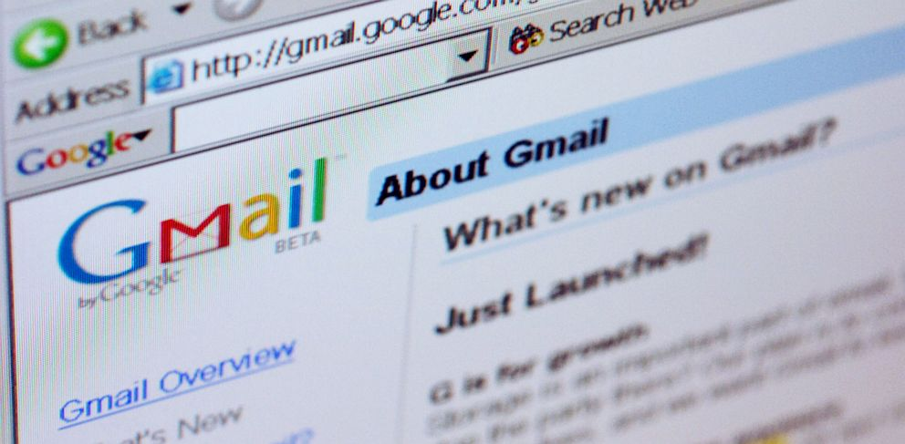 PHOTO: Gmail logo on top of Gmail welcome page