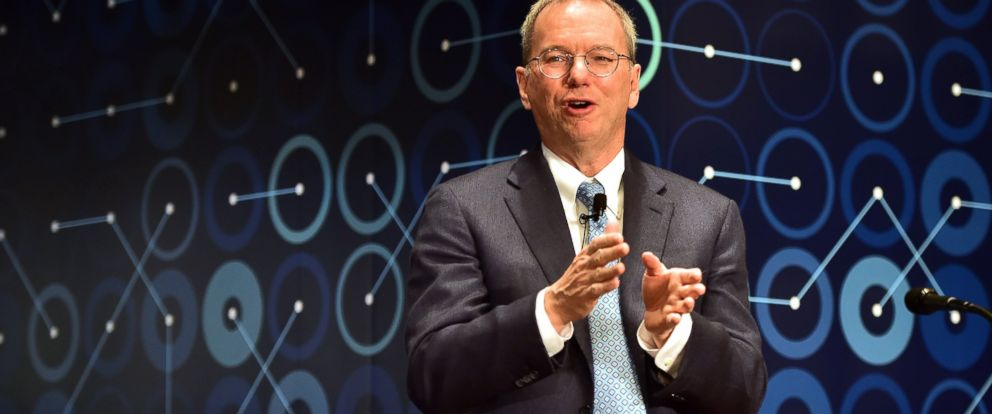 PHOTO:Eric Schmidt, the executive chairman of Google owner Alphabet, speaks during a press conference ahead of the Google DeepMind Challenge Match in Seoul, March 8, 2016.