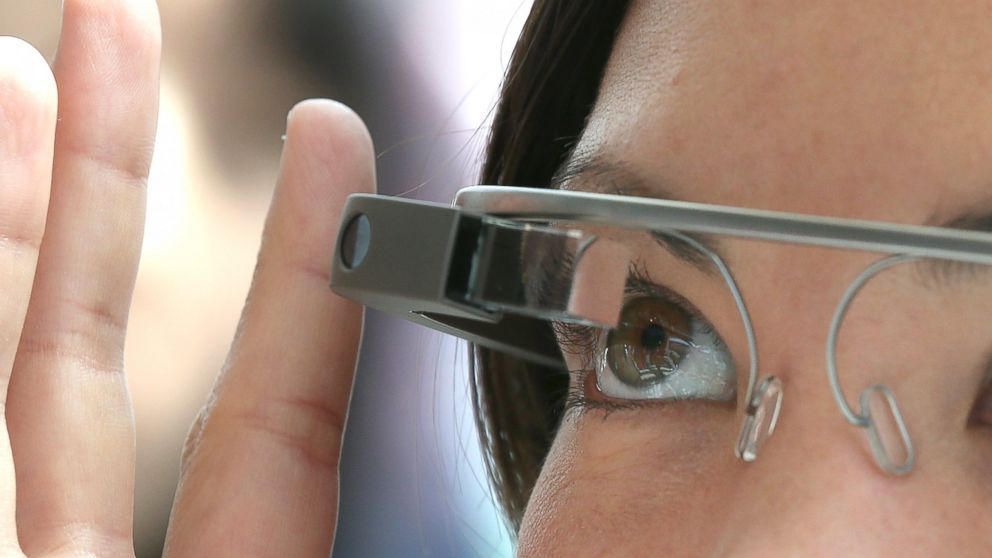 PHOTO: An attendee tries Google Glass during the Google I/O developer conference, May 17, 2013 in San Francisco.