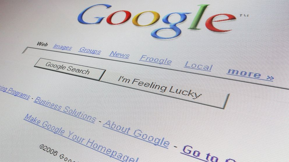 PHOTO: The logo and search page of internet giant Google is displayed on a computer screen in London on April 13, 2006.