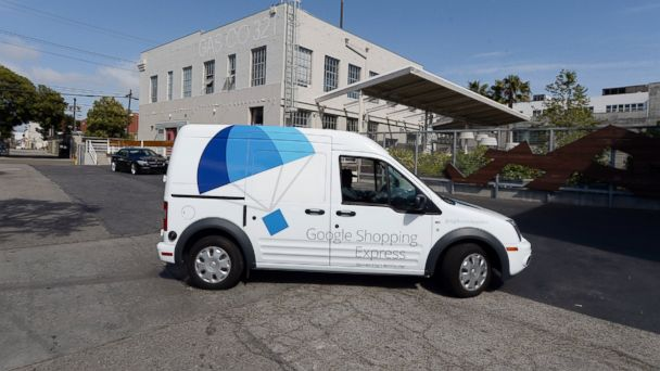 PHOTO: A Google Shopping Express van is seen at Google headquarters in this May 5, 2014, file photo in Los Angeles, Calif.