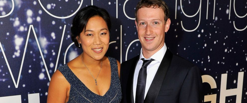 PHOTO:In this file photo, Priscilla Chan and Mark Zuckerberg attend the Breakthrough Prize Awards Ceremony at NASA Ames Research Center, Nov.9, 2014,in Mountain View, Calif.