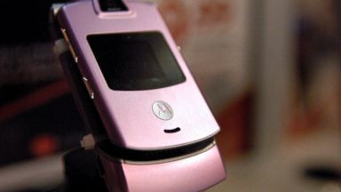 PHOTO: A Motorola RAZR phone sits on display at a Best Buy store in Sandy Springs, Ga, Jan. 30, 2007.